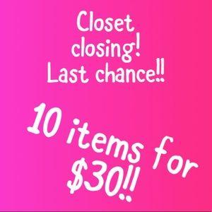 Closet closing!!